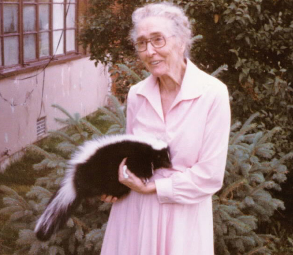 This doubtful attitude is common among people holding a pet skunk.
