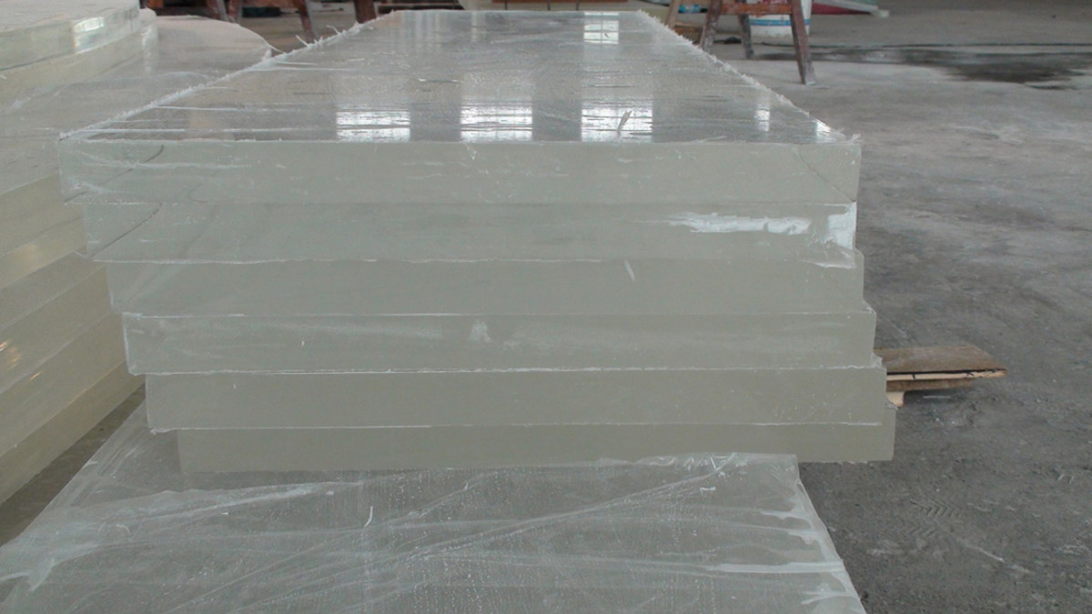 Some acrylic sheets at the plastics supplier.