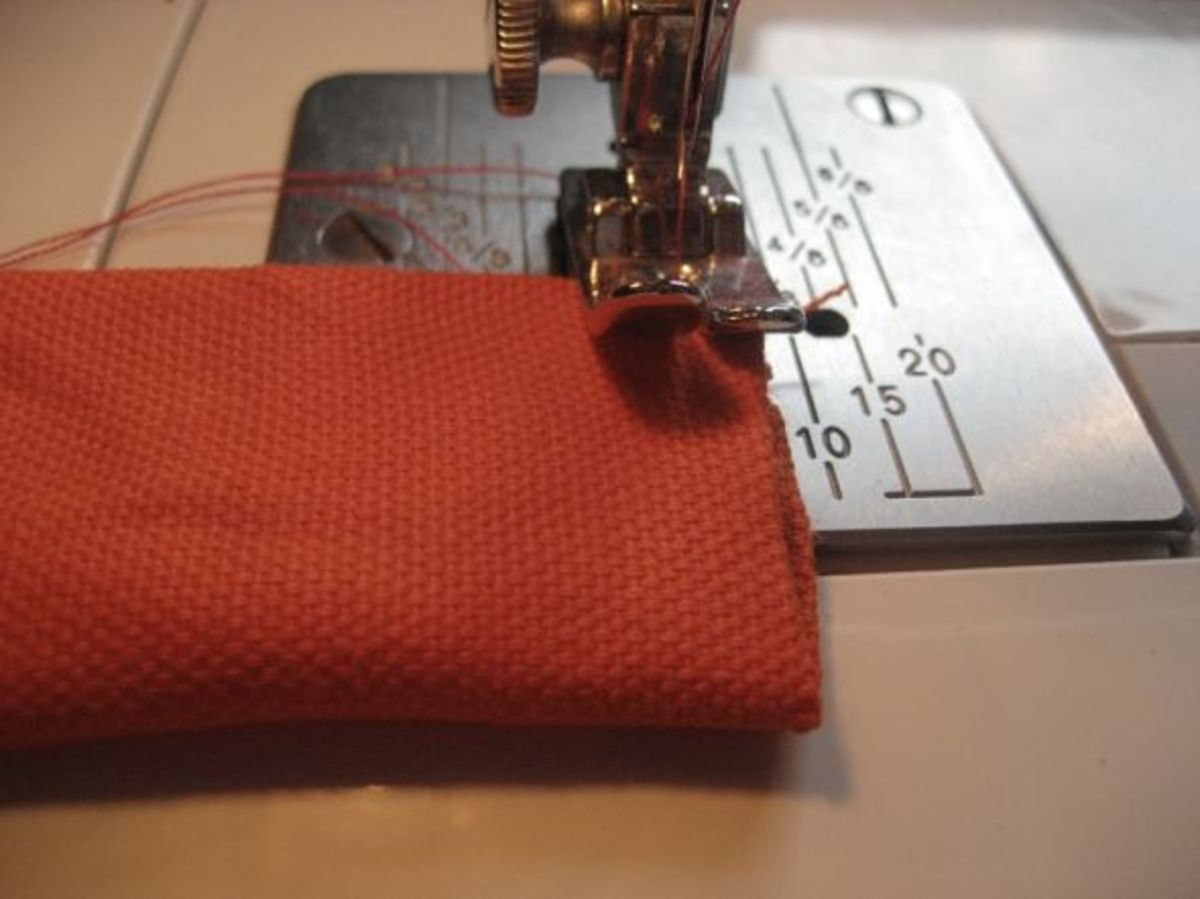 Step 8. Sew around all four edges of the rectangle to increase durability.