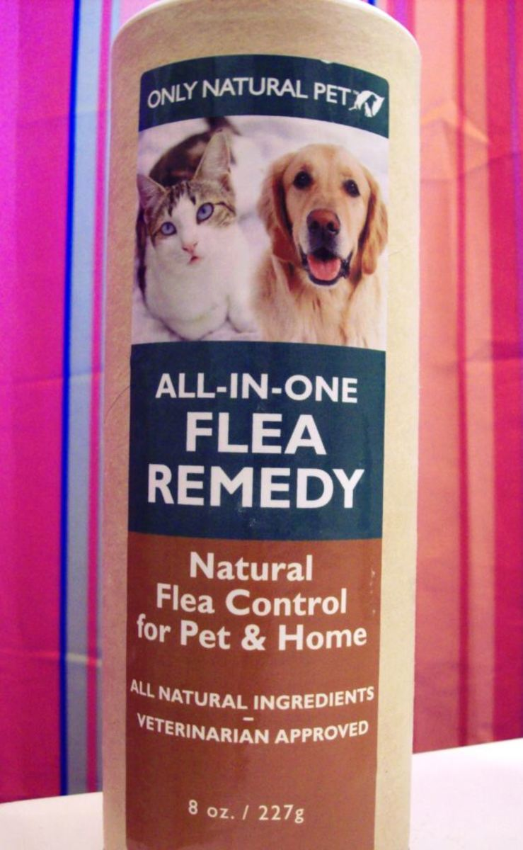 I use diatomaceous earth with my pets.