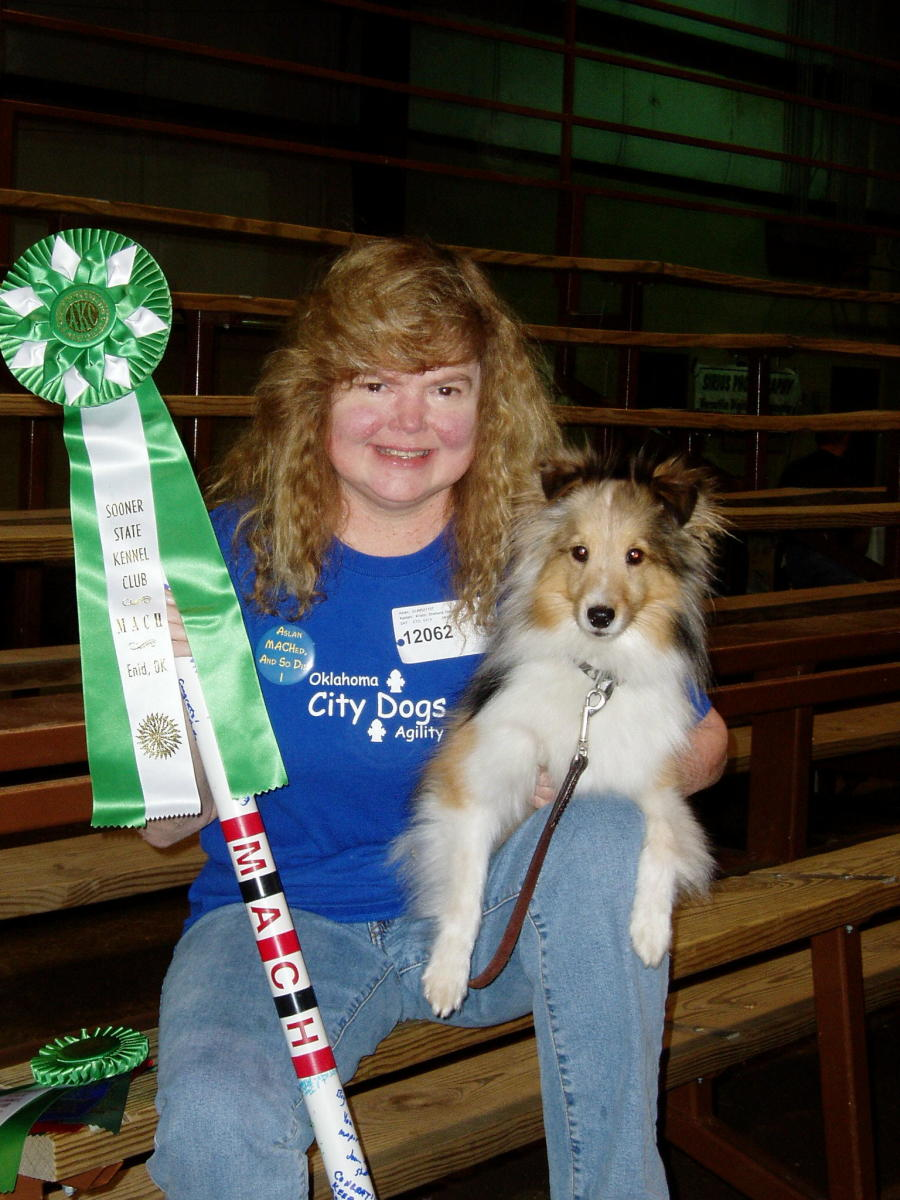 Aslan and the author with Aslan's first MACH ribbon and bar.