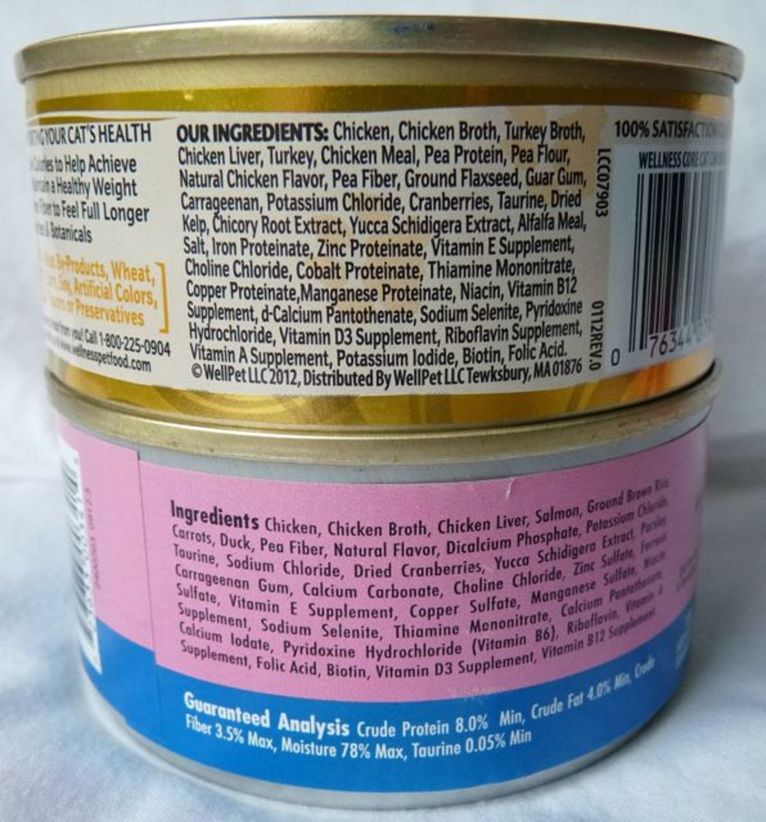 An ingredient label can tell you a lot about the quality of the food. The first ingredient should be real meat and not 'by-products'.