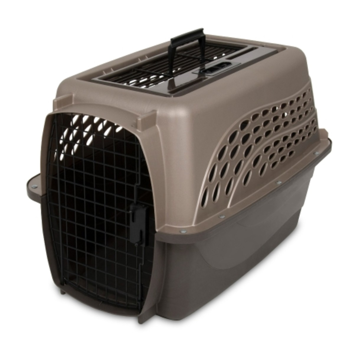 "Here's the Petmate Two-Door Top Load Kennel 24"" model. This hard-sided cat carrier is great as an everyday carrier for vet visits or for long road trips with your cat."