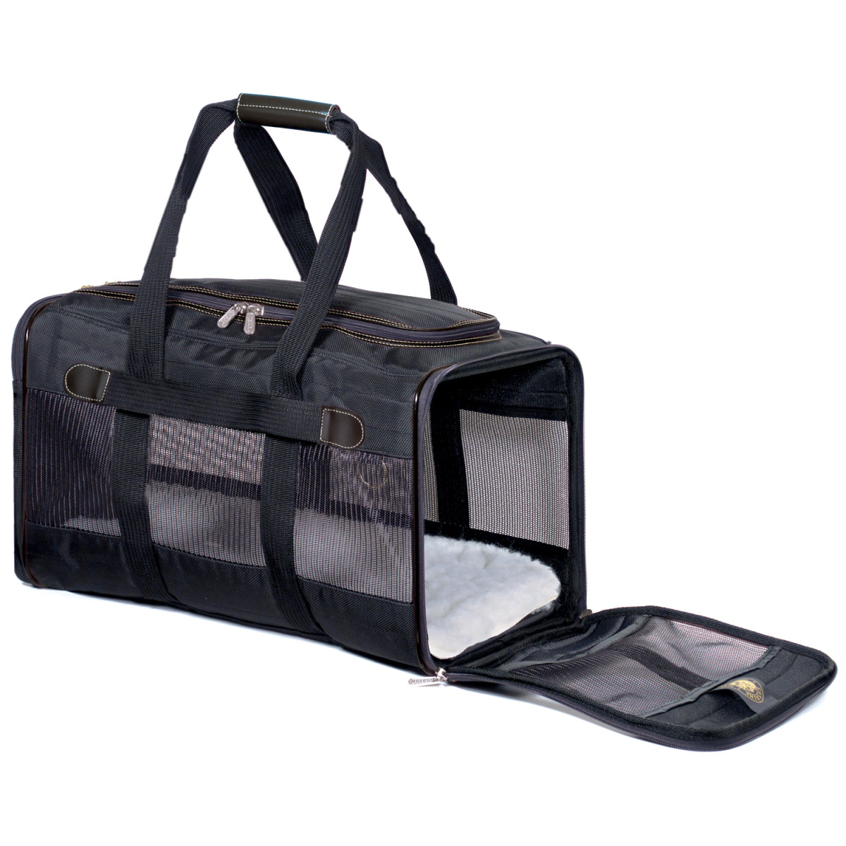 The Sherpa Original Deluxe Pet Carrier (Large), shown in Black.