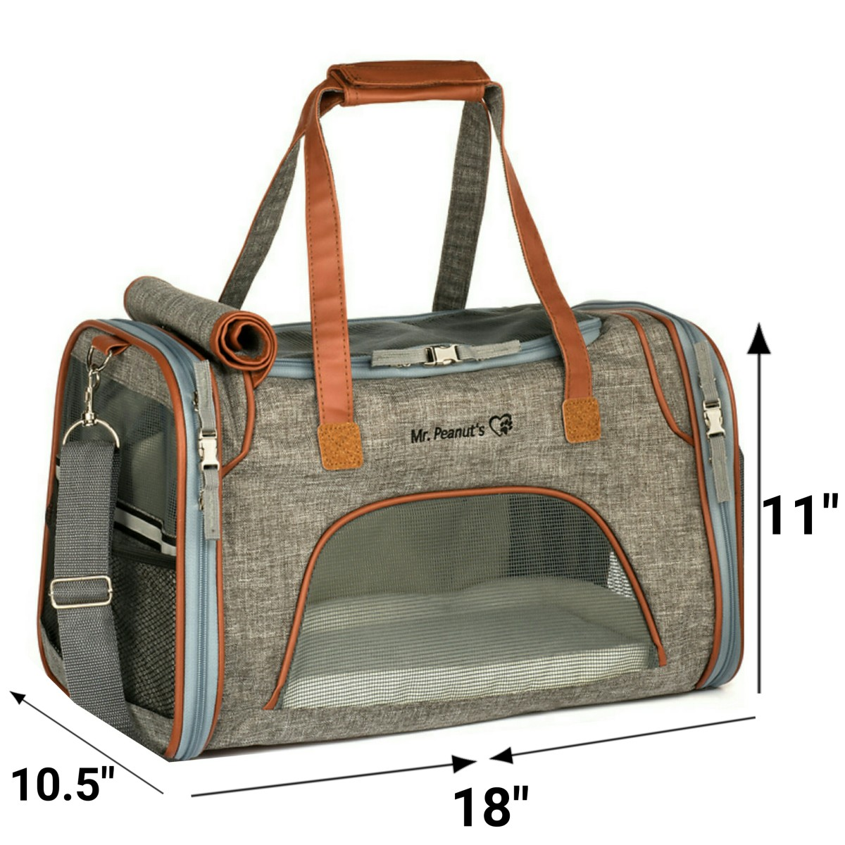 The Mr. Peanuts Airline Approved Soft-Sided Low Profile Travel Tote