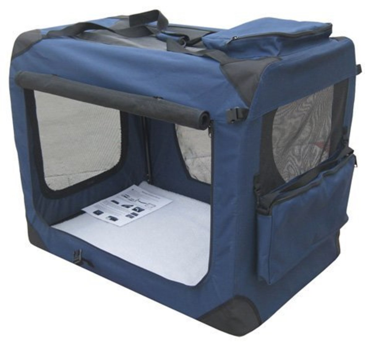 Soft-sided crate for dogs that are already crate-trained.
