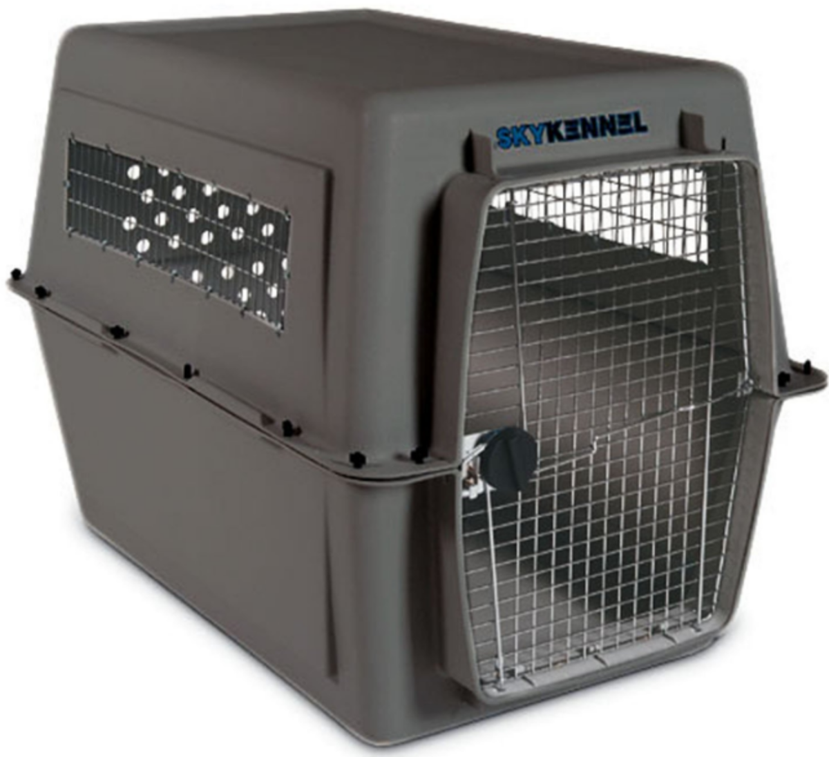 The Petmate Sky Kennel is an airline-approved carrier that comes in sizes large enough to hold large and giant breed dogs.
