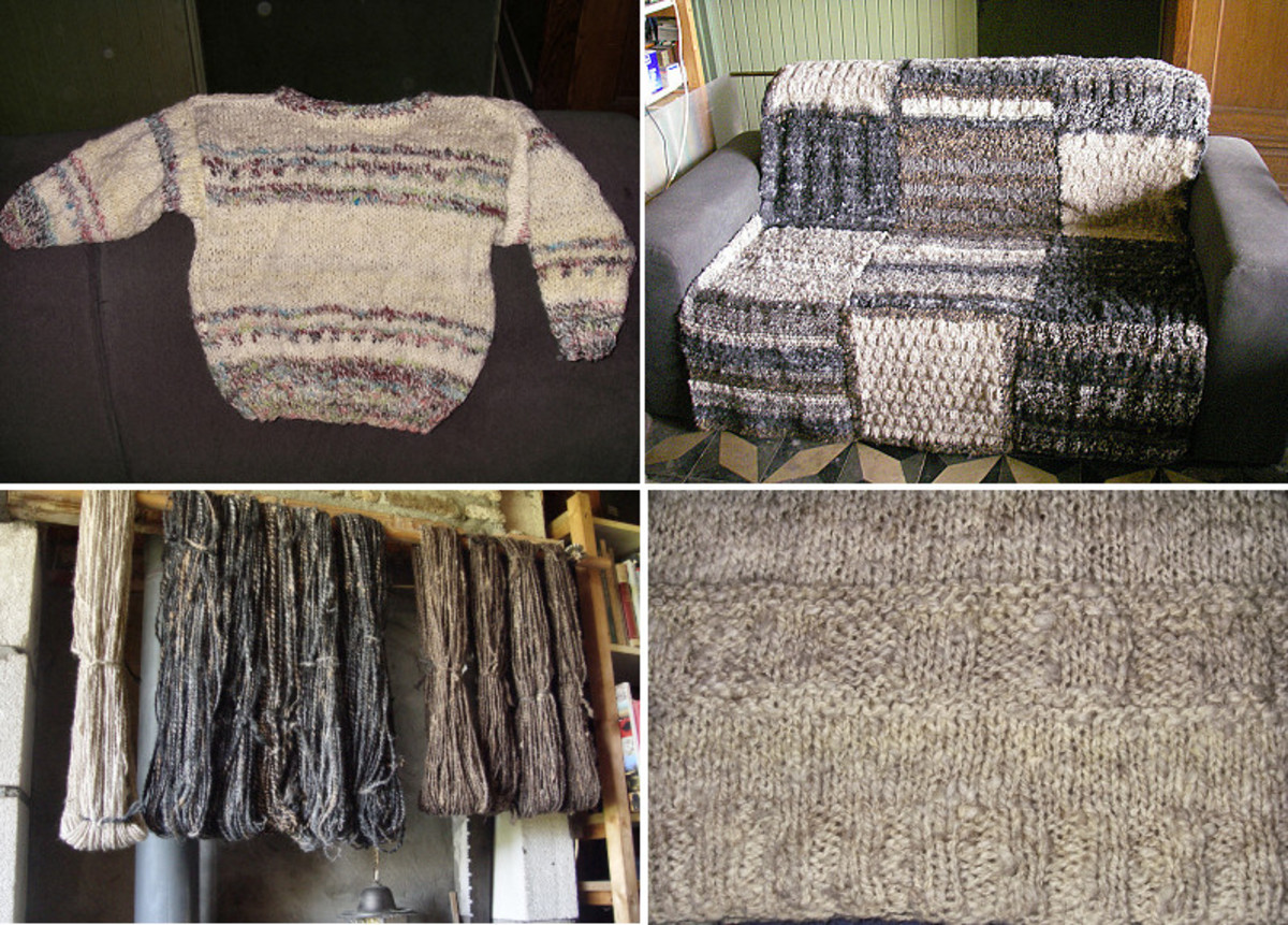 Knitted Sheep Wool