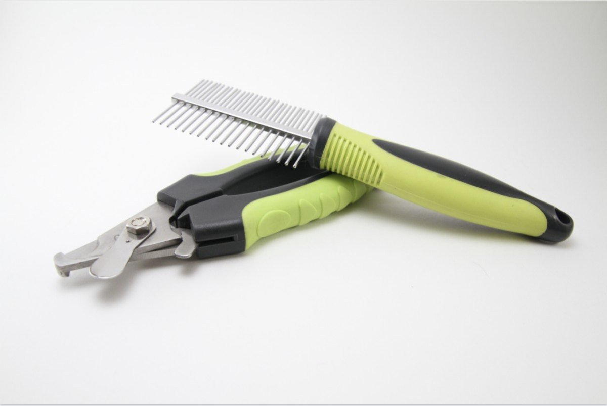Common scissor-type dog nail trimmers.