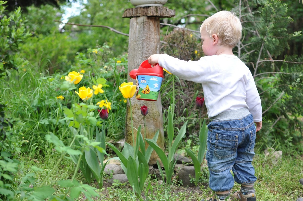 helping your children create a small memorial garden after a special pet dies can help cope with their feelings of sadness.
