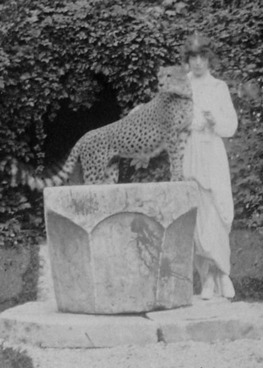 Marchesa Casati with pet cheetah (1912) Picture: Courtesy of Ryersson and Yaccarino/The Casati Archives
