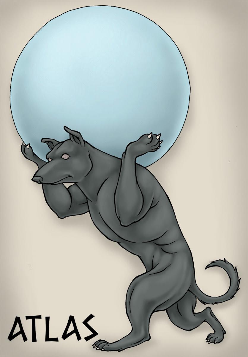Greek Titan Atlas makes a good name for a strong dog