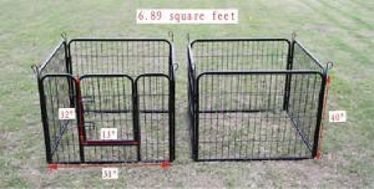 Makes two 6.89 square foot pet pens.