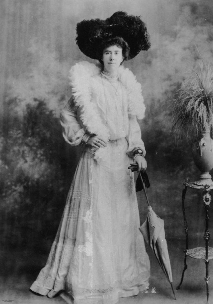 Feathered hats and boas were popular during past eras.  This photo was from about 1900.