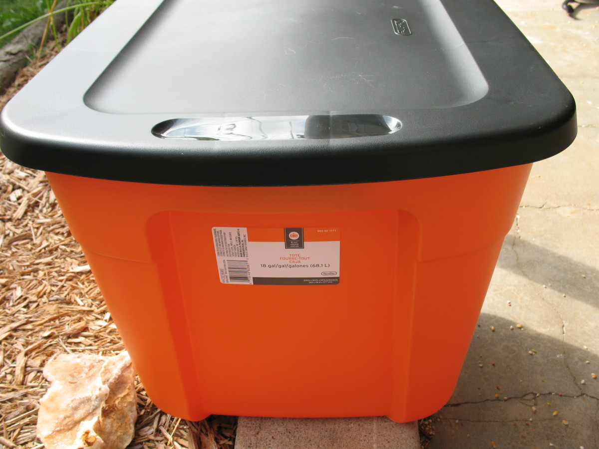 Choose a large bin for this project.