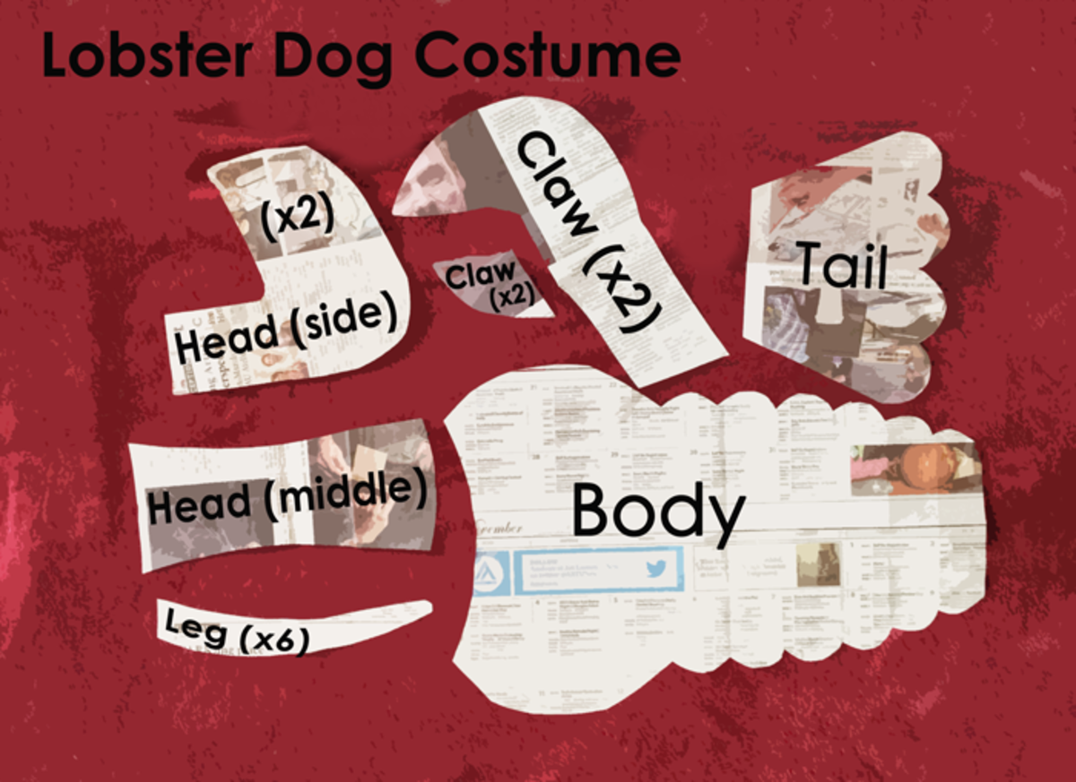 Lobster Dog Costume Pattern