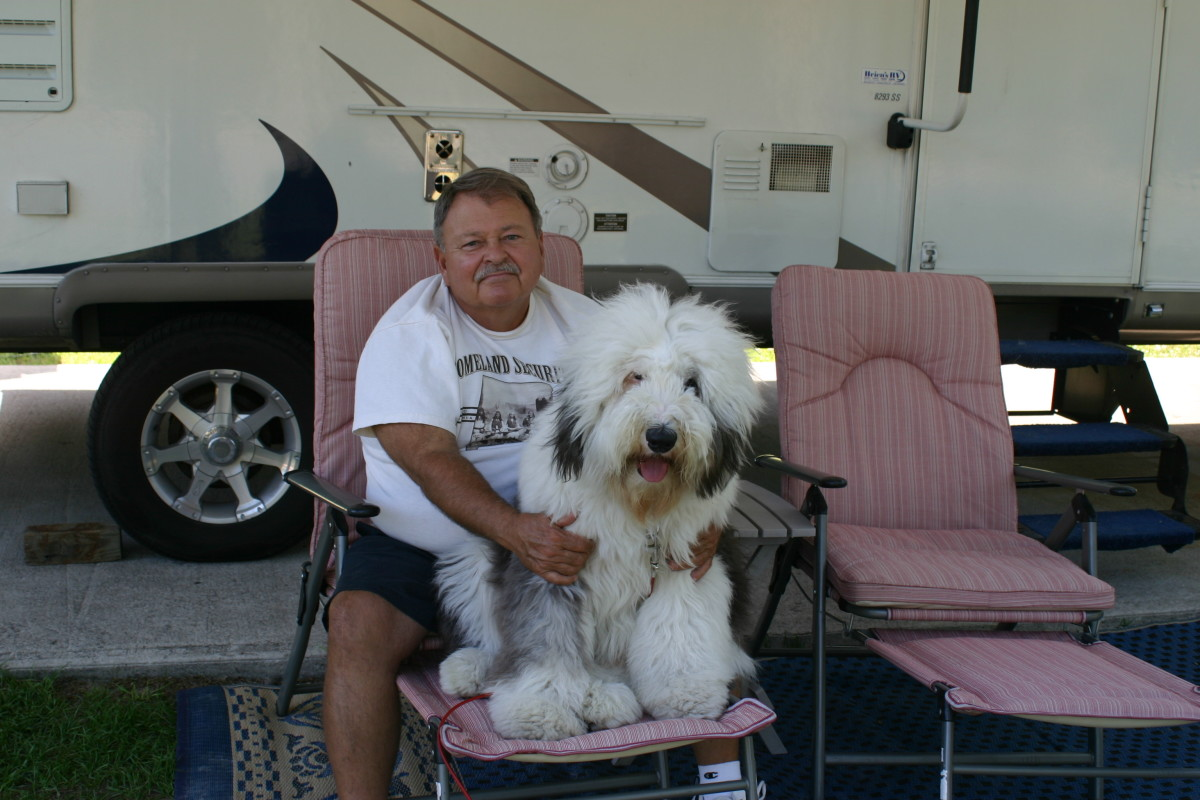 My husband Bob with our best friend Miracle