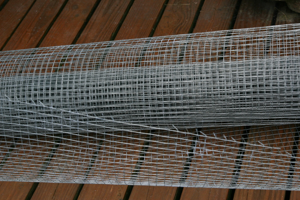 "1/2"" hardware cloth is much stronger than chicken wire, and will prevent predators from breaking into the coop."