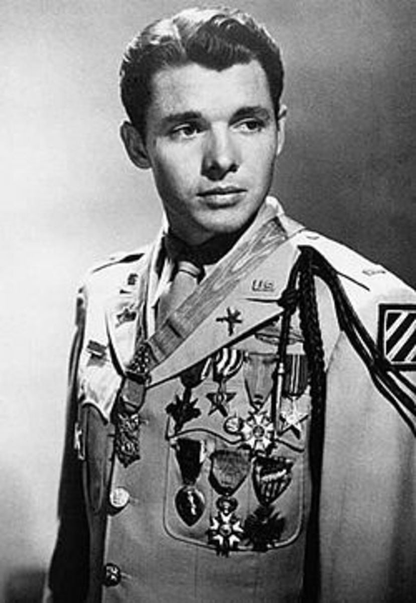 Audie Murphy in Full Military Honors