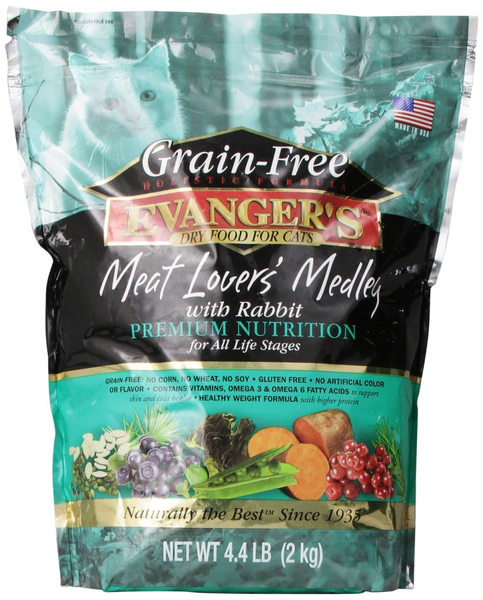 Evanger's is the only premium brand to use rabbit, beef and pork together.