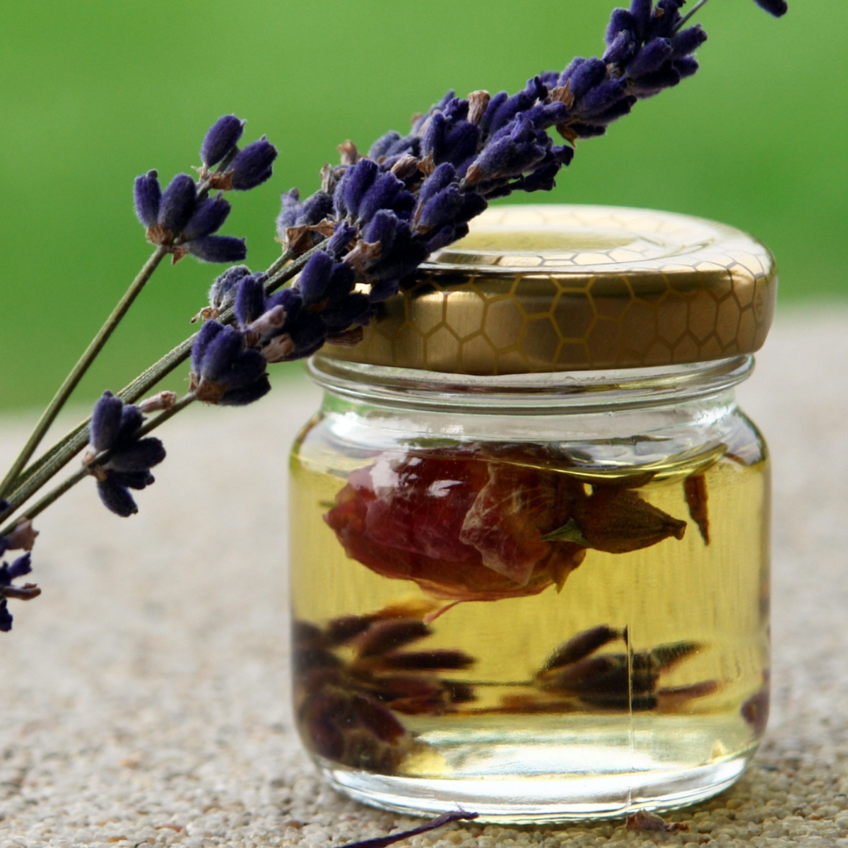 Lavender can be incorporated into the oil to mask its strong odor.