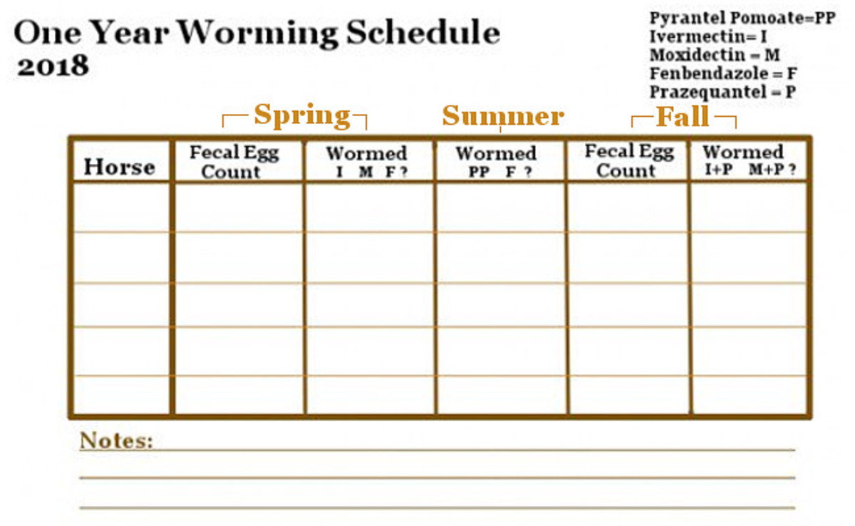 Worm Schedule: Free to copy schedule.