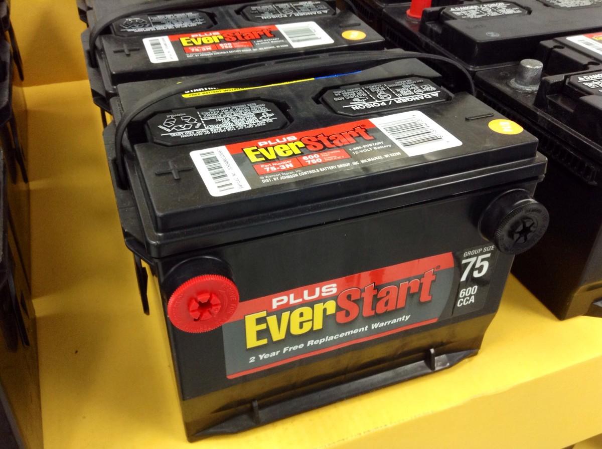 Several different manufacturers fabricate models of EverStart brand car batteries.