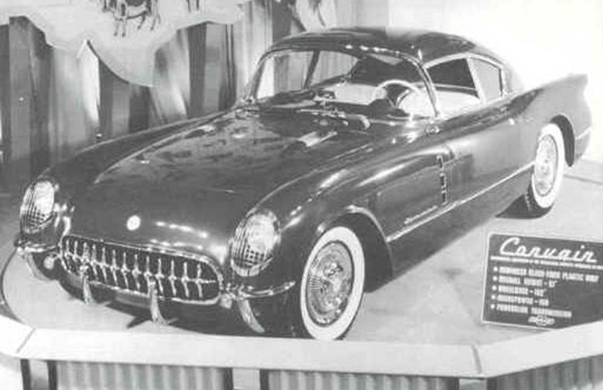 The original 1954 Corvair prototype based on the Corvette
