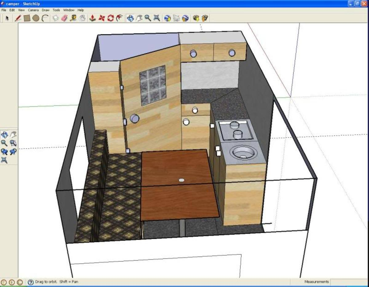 The Design on Google SketchUp