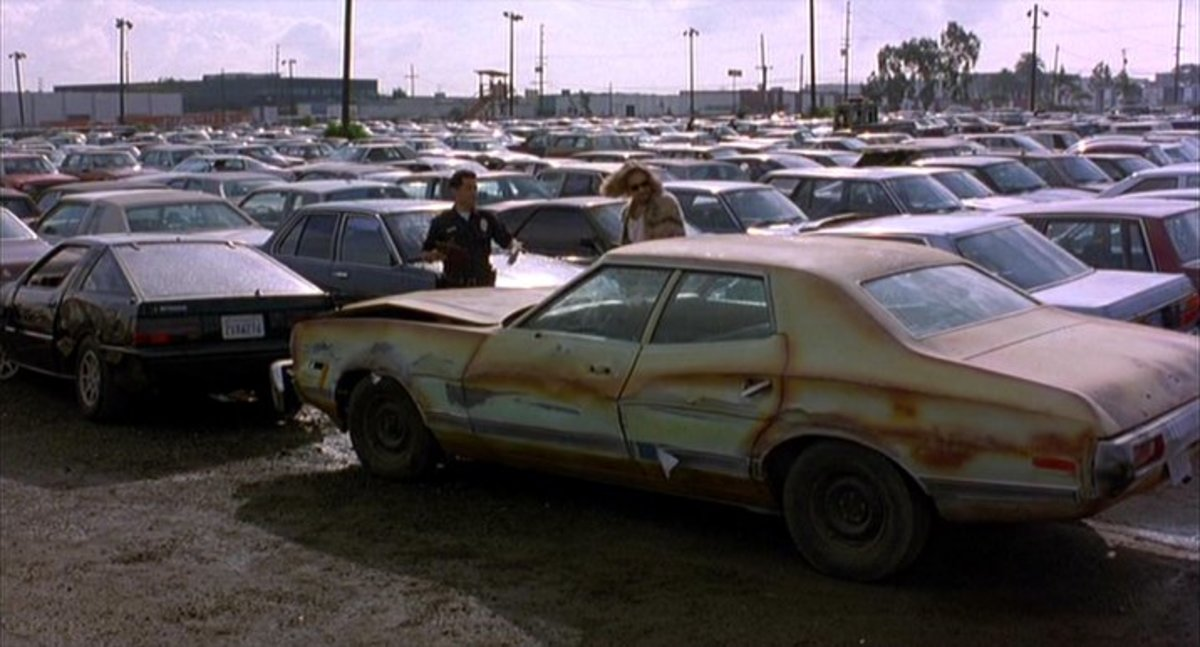 The 1973 Ford Gran Torino from Big Lebowski (1998).