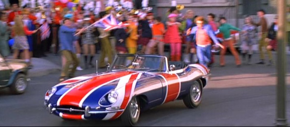 "The 1967 Jaguar E Type used in Austin Powers (1997), also called the  ""Shaguar."""