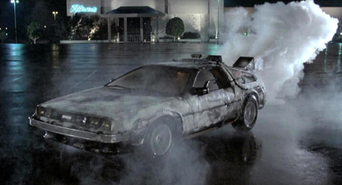 The 1981 Delorean DMC 12 featured in Back to the Future 1, 2, & 3 (1985, 1989, 1990).