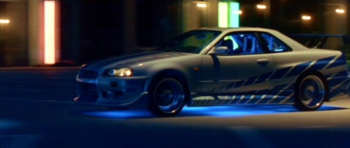 The 1999 Nissan Skyline R34GTR featured in 2 Fast 2 Furious (2003).