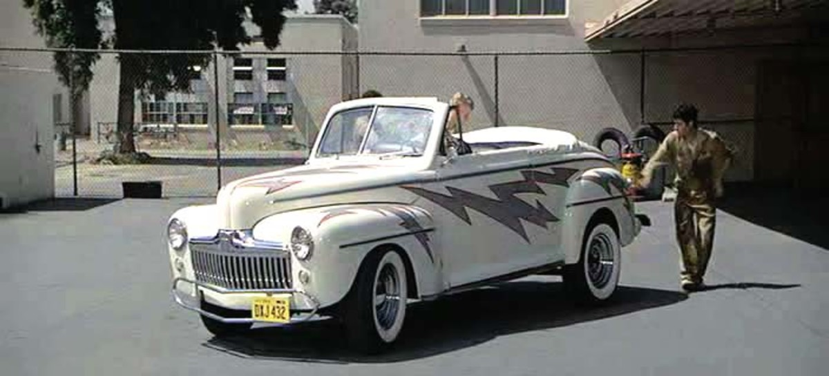 The 1948 Ford De Lux used in Grease (1978).