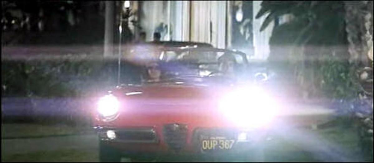 The 1966 Alfa Romeo Spider Duetto used in The Graduate (1967).