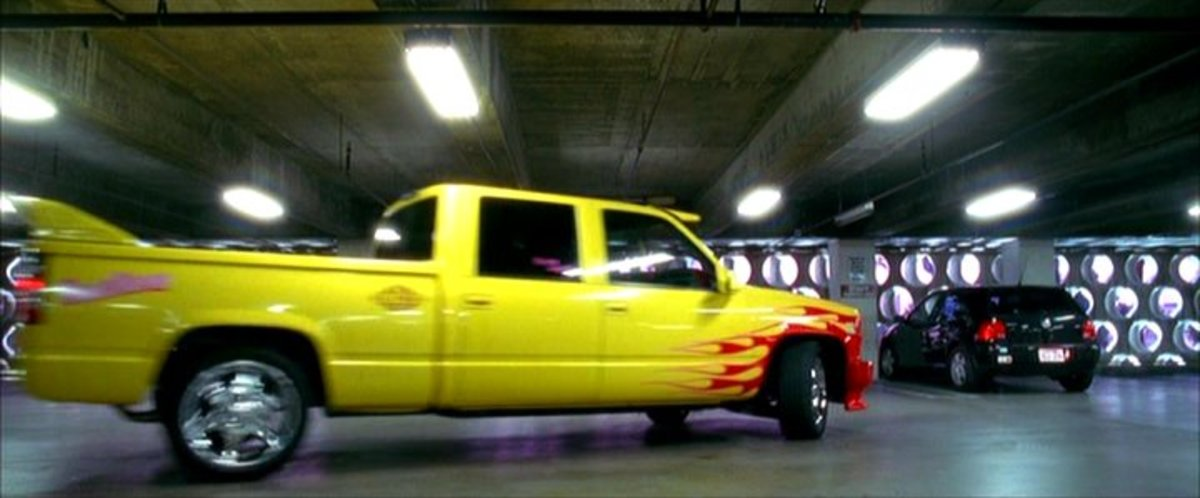 "The 1997 Chevrolet 2500 Silverado Fleetside from Kill Bill (2003) knows as ""Pussy Wagon."""
