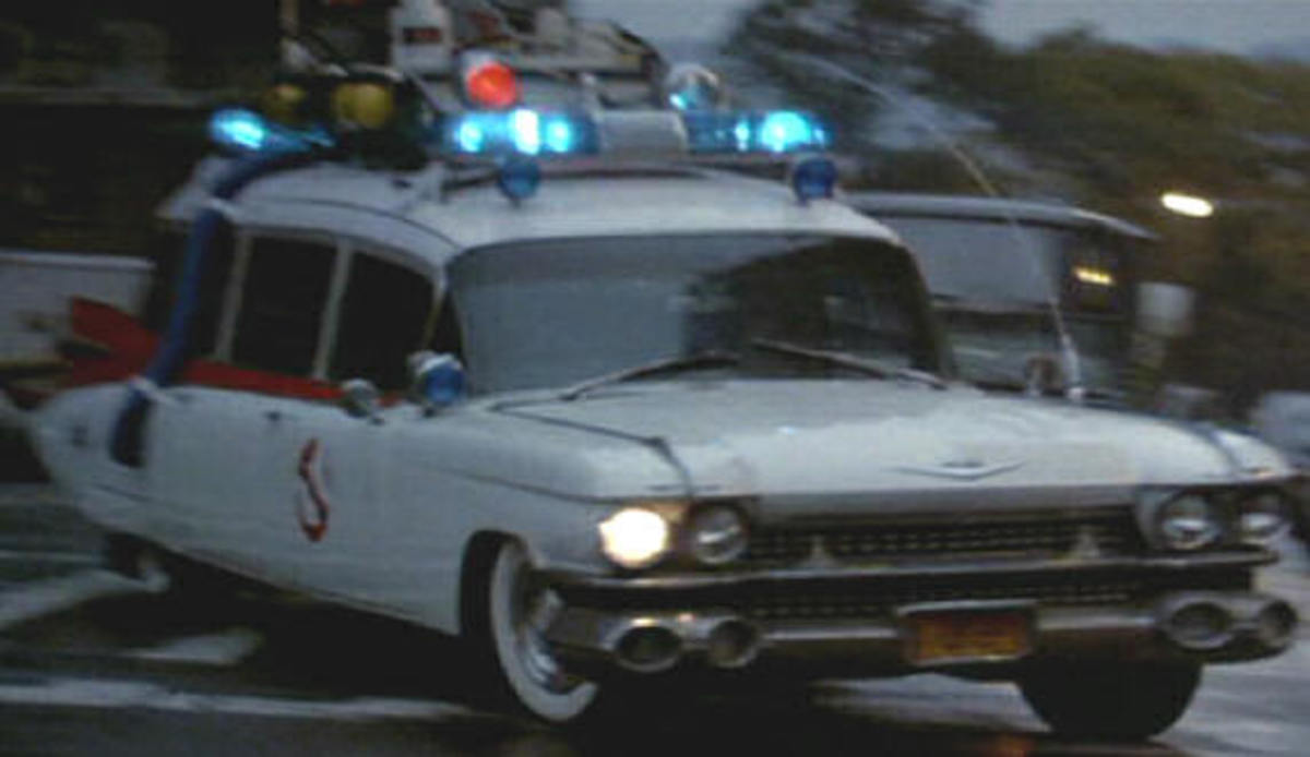 The 1959 Cadillac Miller-Meteor (ECTO1) from Ghostbusters (1984).