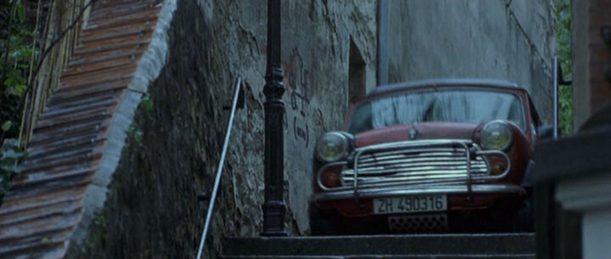 The 1989 Mini 1100 Special featured in Bourne Identity (2002).