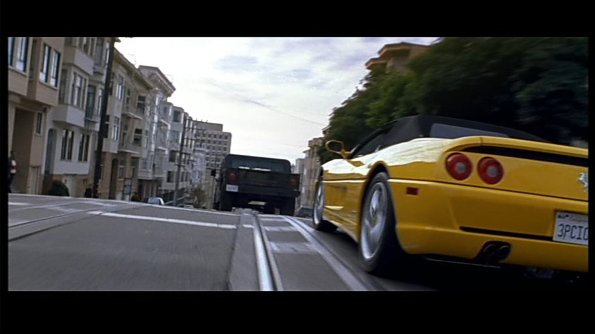 The 1996 Ferrari F355 Spider from The Rock (1996).