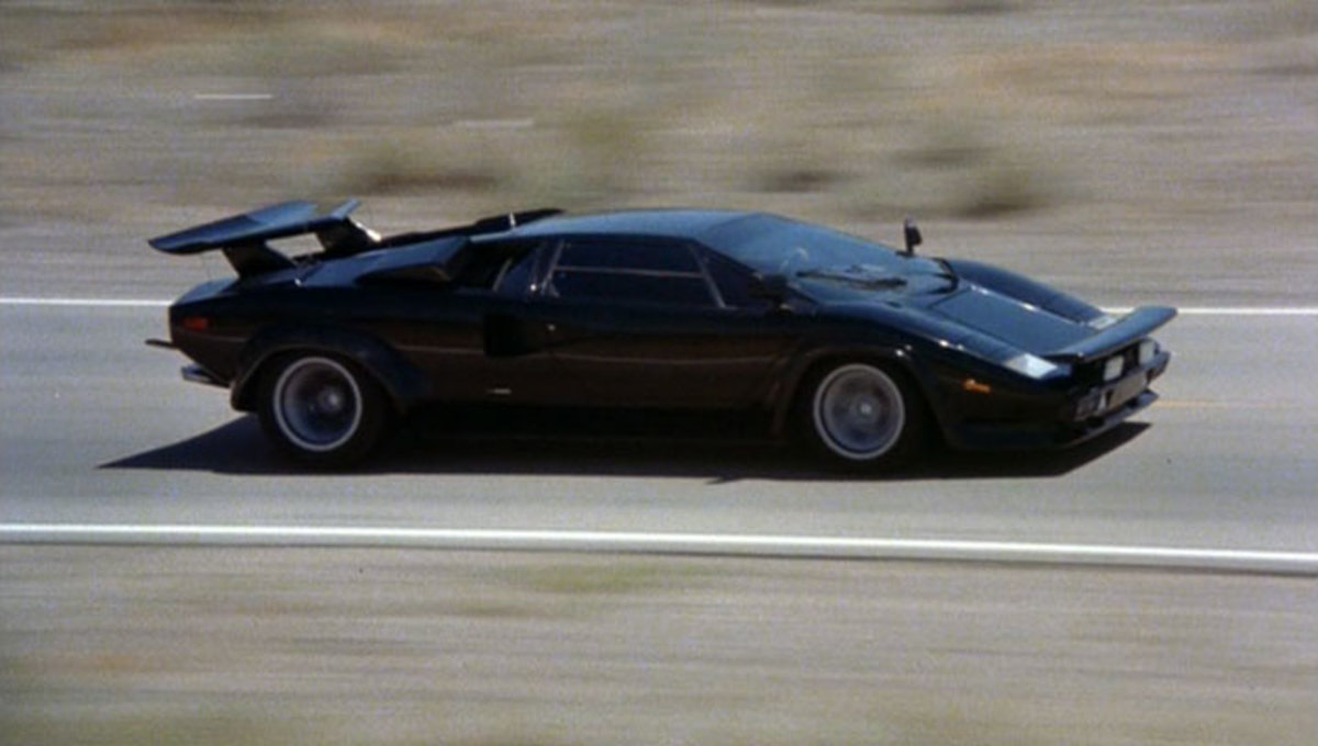 The 1980 Lamborghini Countache LP400S featured in Cannonball Run (1981).
