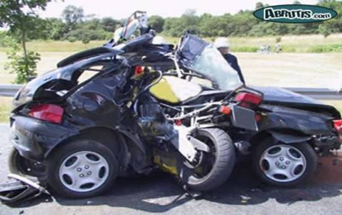 This motorcycle didn't turn