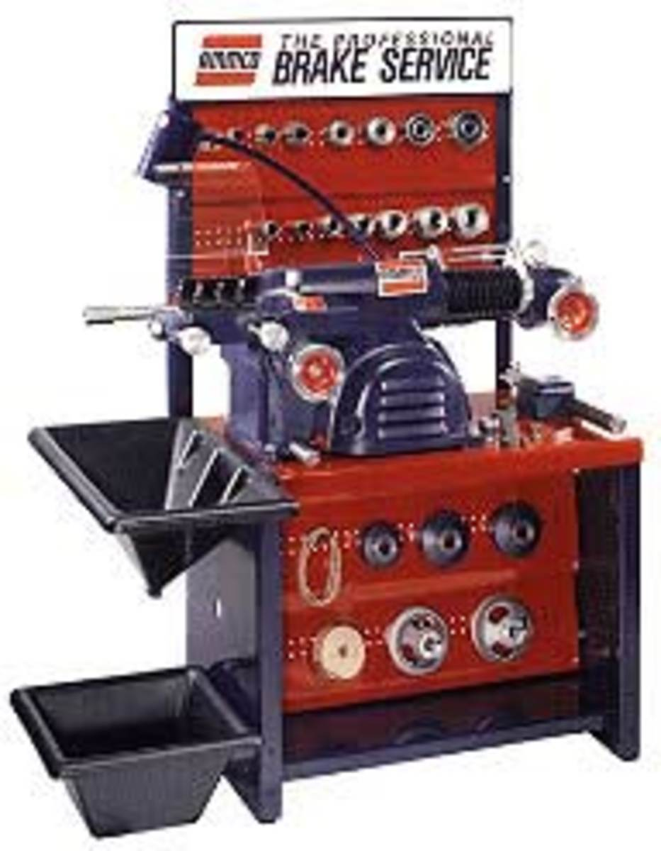 workshop machinery- Automotive shop equipment-Ammco brake lathe machine and parts.
