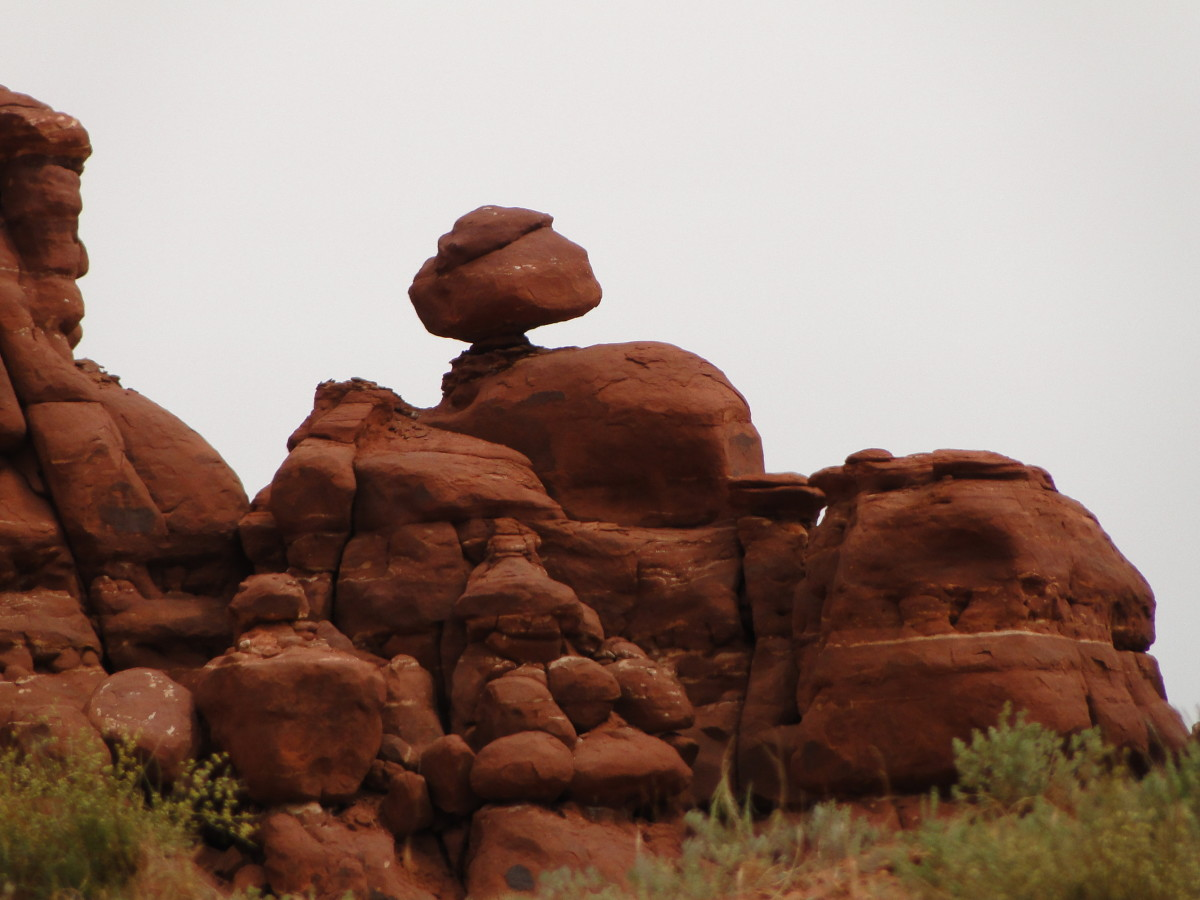 There are plenty of balancing rocks to view along the trail.