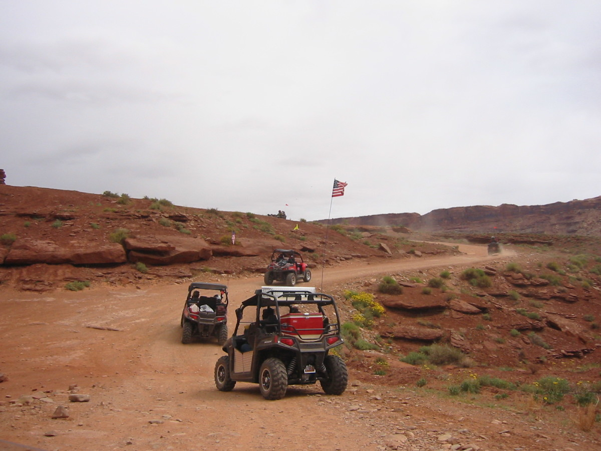 On the way to Chicken Corners in Moab, Utah.