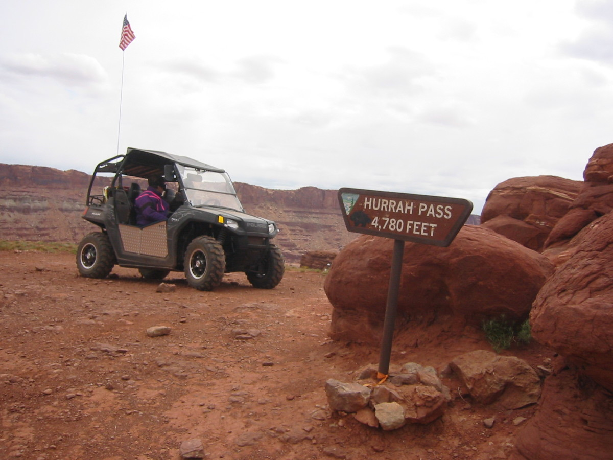 We started from Hurrah Pass to get to Chicken Corners.