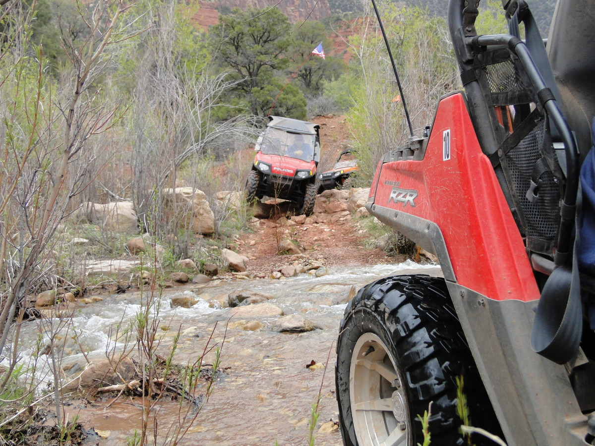 Climbing over the rocks was no problem for the Polaris Ranger RZR.