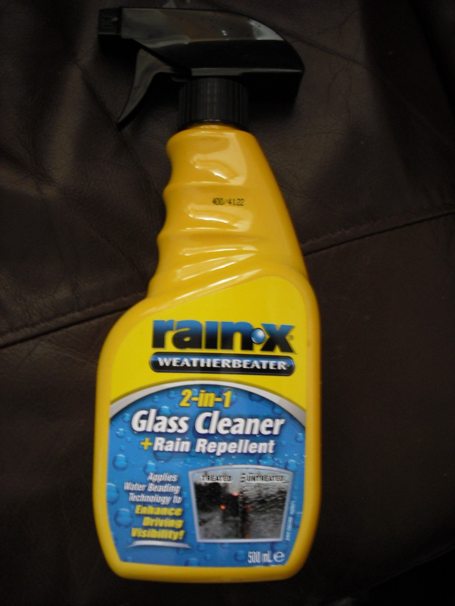 My personal favourite - Rain-X 2in1 Glass Cleaner.