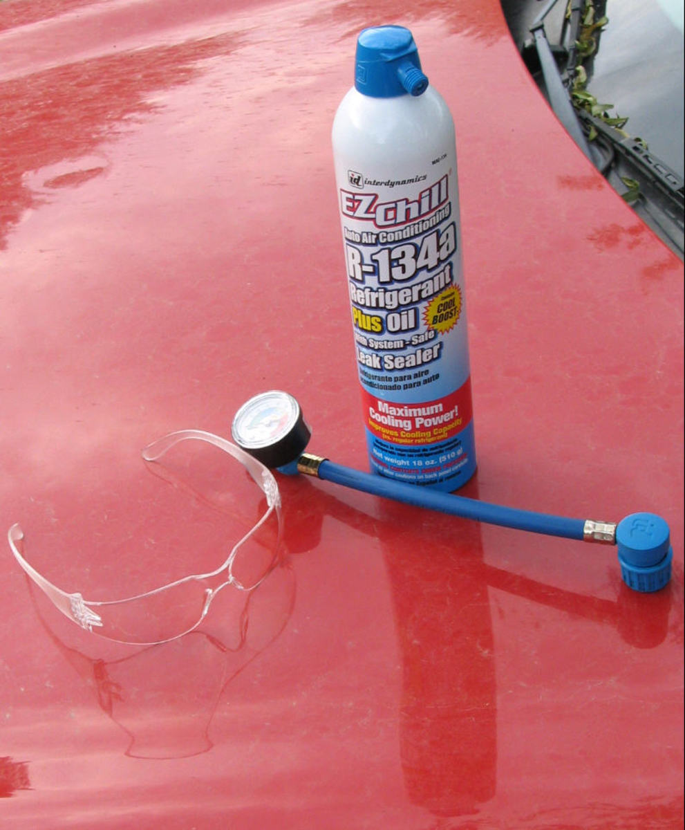 EZ Chill r134a freon recharge kit.