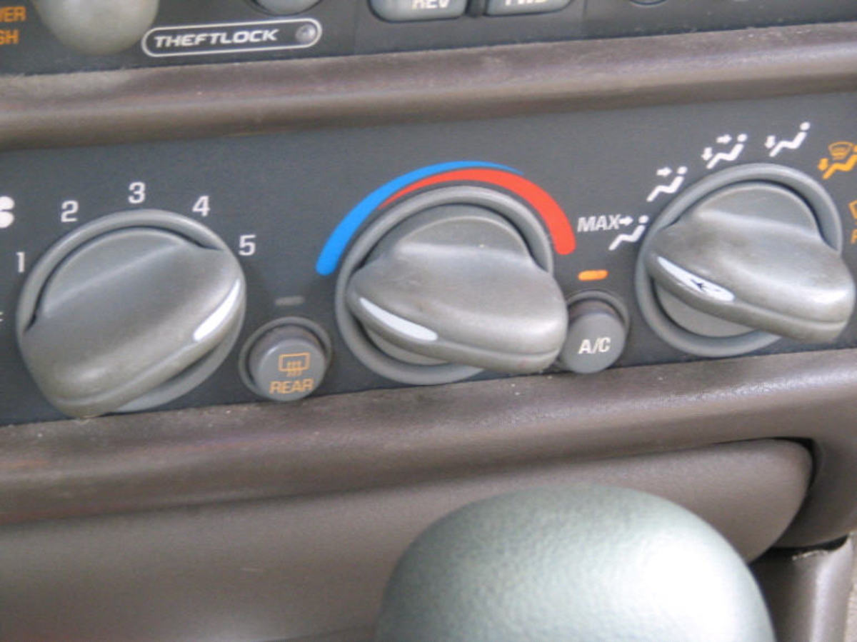 A/C set to max.