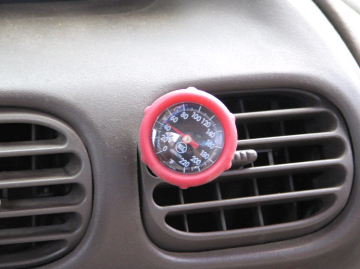 After charging the A/C with freon, your vents will emit cool air.